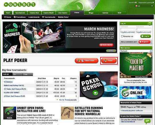 Poker alias unibet